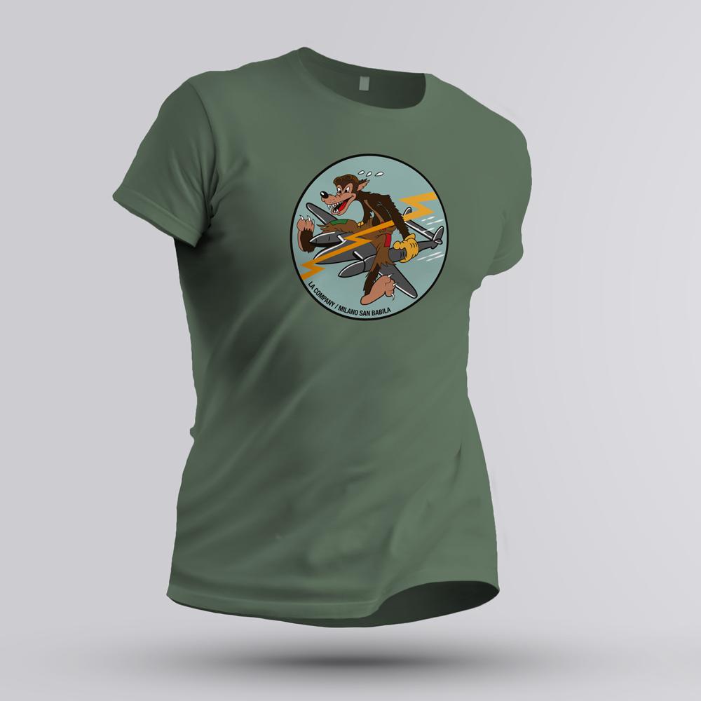 maglietta 474th Fighter Group verde militare