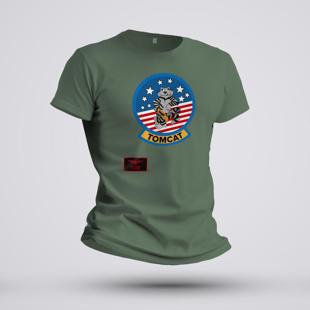 maglietta TOMCAT verde militare