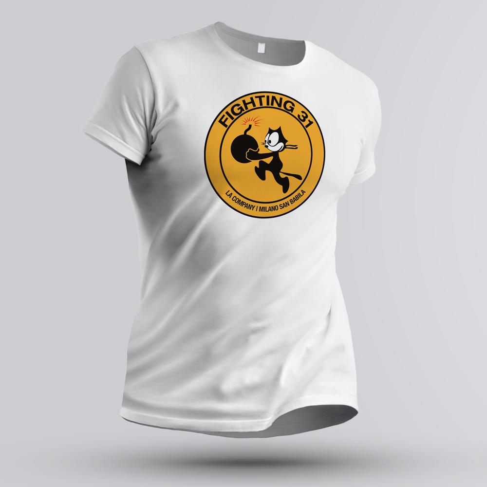 maglietta FIGHTING 31 FELIX BOMBA bianca