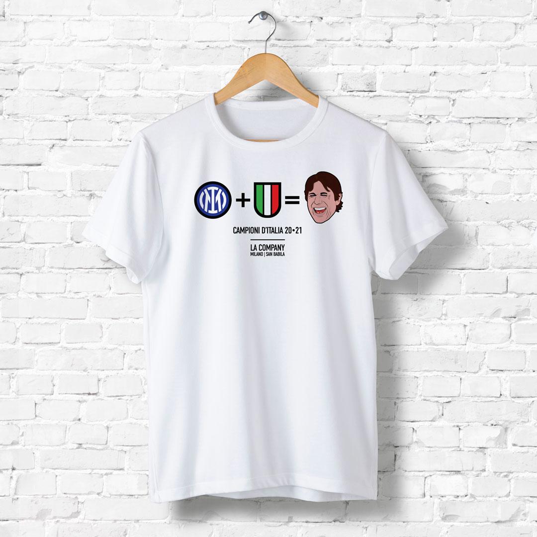 maglietta bianca scudetto inter - conte