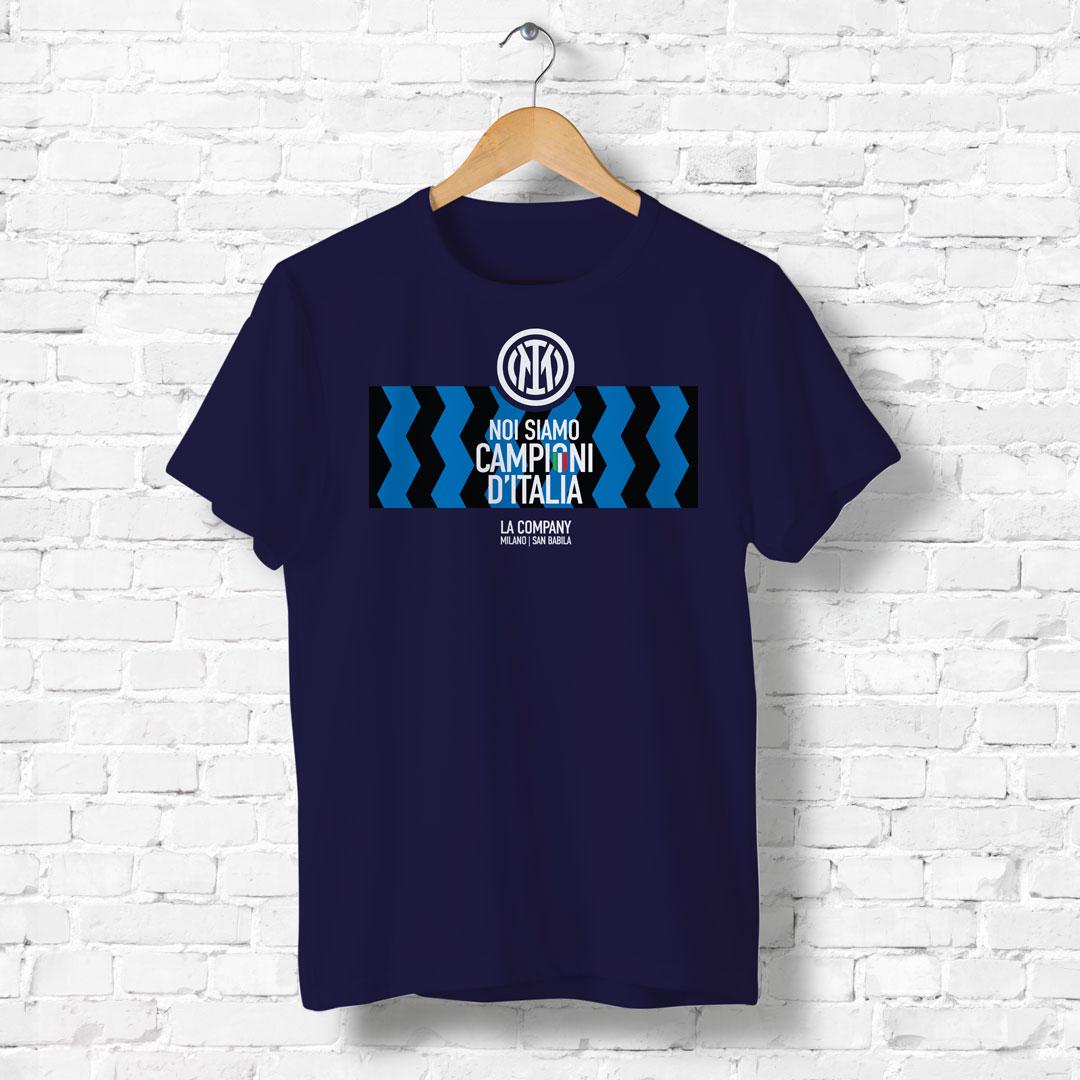 Maglietta blu Scudetto Inter